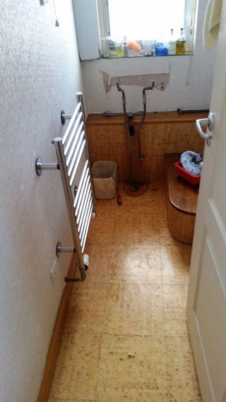Cork floor in WC
