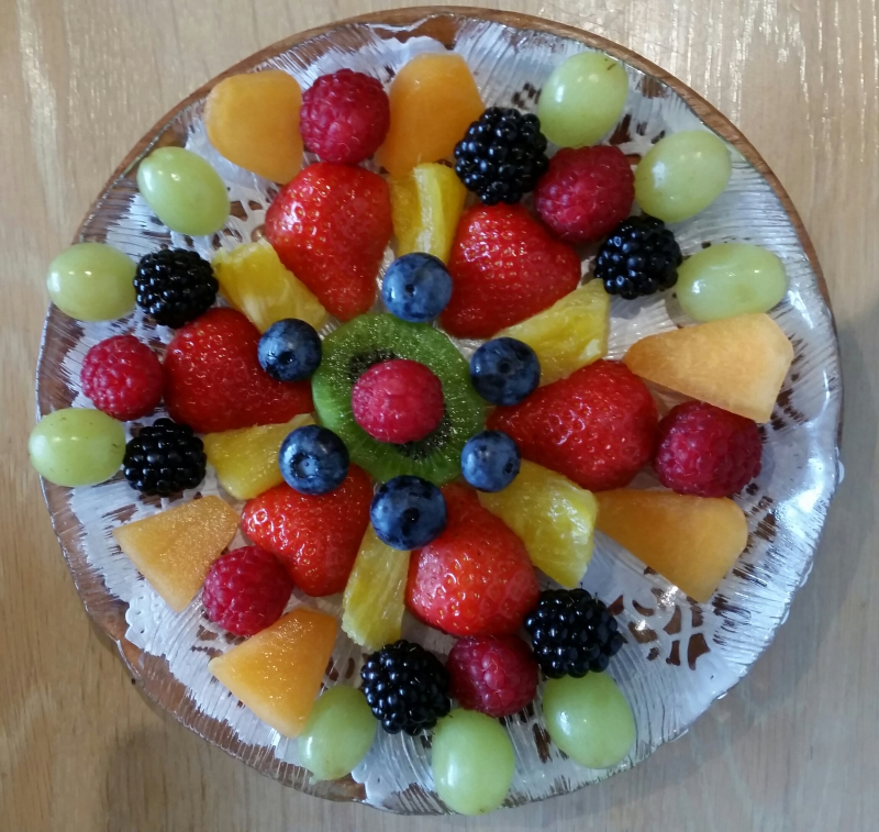 Fruit platter with blueberries